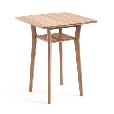 table de bar haute de jardin acacia gaytara table de bar haute de jardin acacia