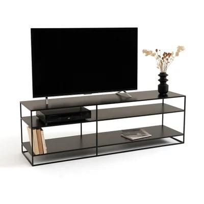 meuble tv noir la redoute