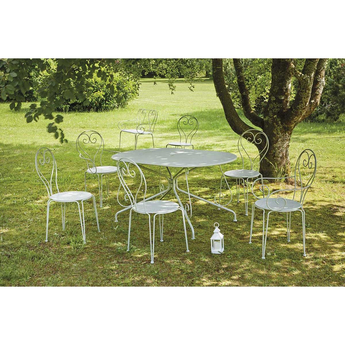ensemble table chaise de jardin en