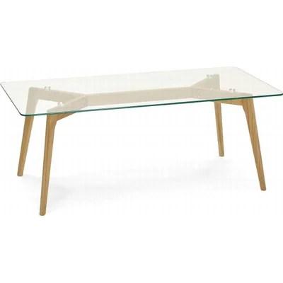 table basse en verre transparent la