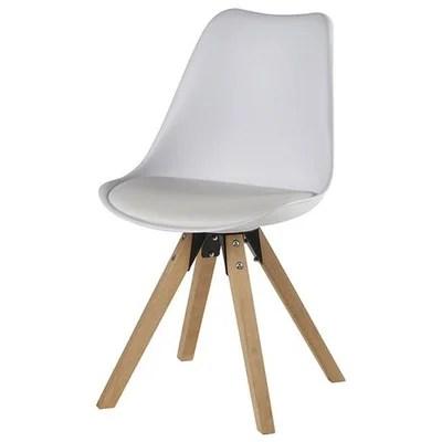 chaise scandinave blanc et bois la