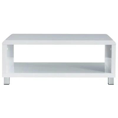 table basse laque blanc design la redoute