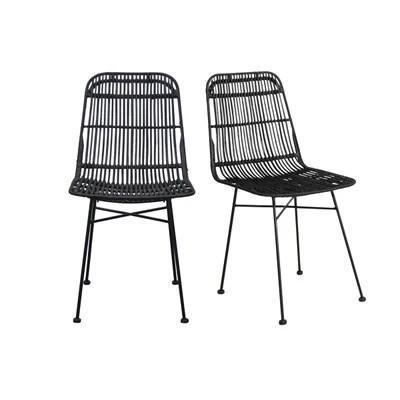 chaise rotin noir la redoute
