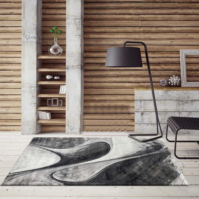 tapis salon gris la redoute