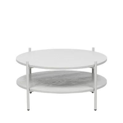 table de salon ronde blanche la redoute