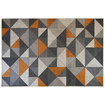 tapis graphique gris la redoute