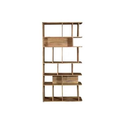 meuble bibliotheque bois massif la