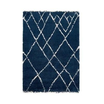 tapis bleu et blanc enredada