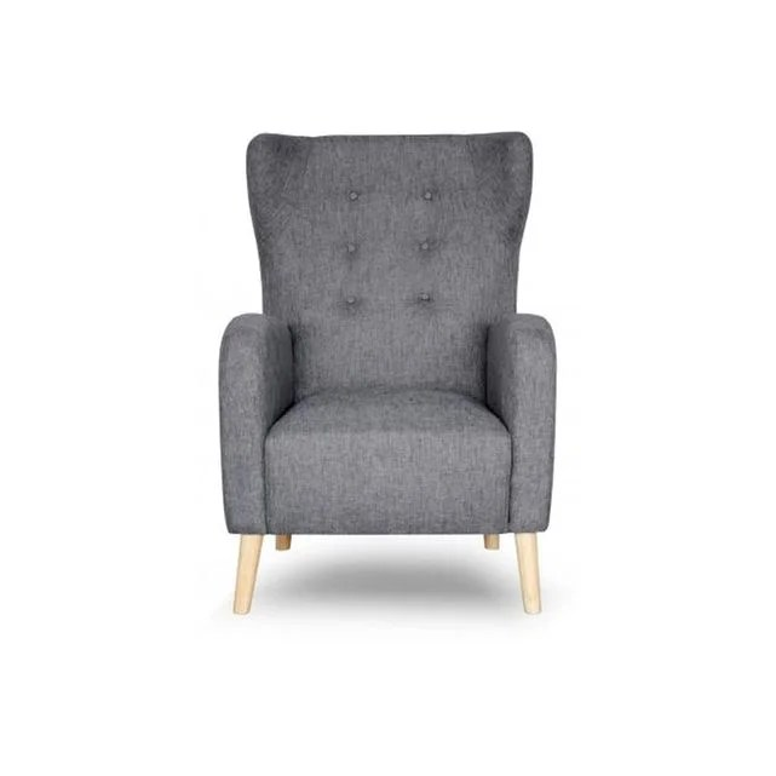 fauteuil scandinave dossier haut tissu anthracite alienor gris declikdeco la redoute