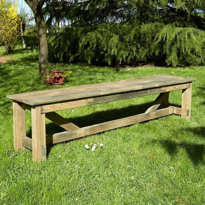 banc de jardin en bois normand