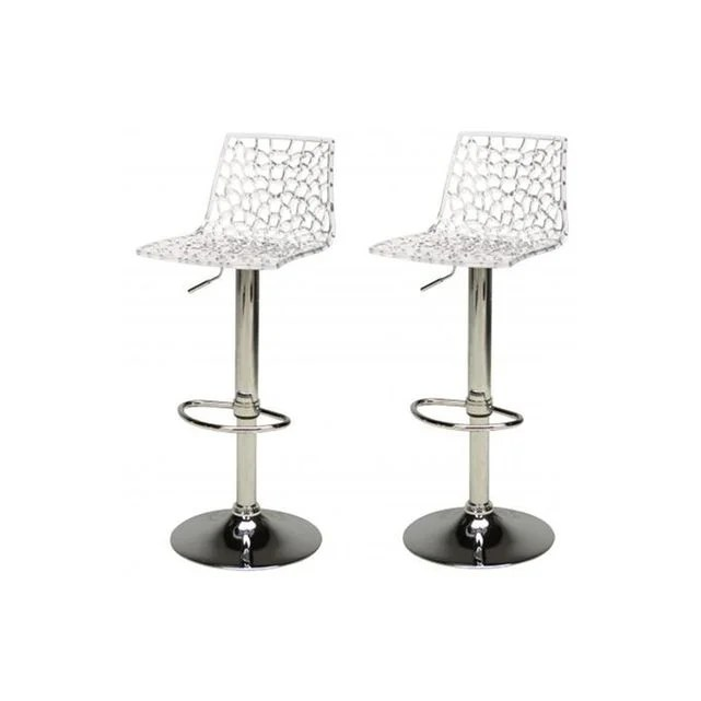 lot de 2 tabourets de bar design transparents smart declikdeco image 0