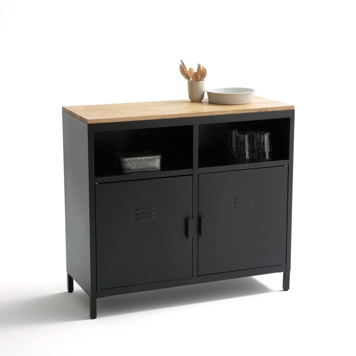 meuble de cuisine 2 portes 2 niches hiba