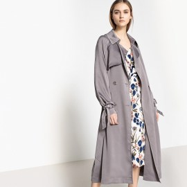 Imagen de Trench vaporoso satinado La Redoute Collections