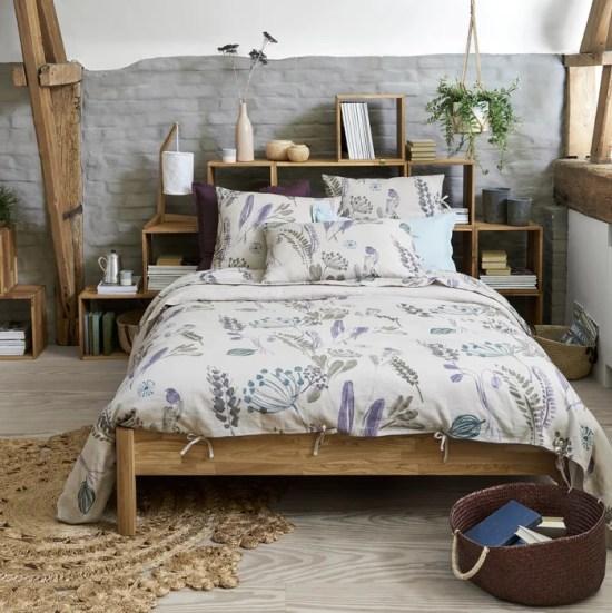 Imagen de Funda nórdica 100% lino lavado, Craft Garden La Redoute Interieurs