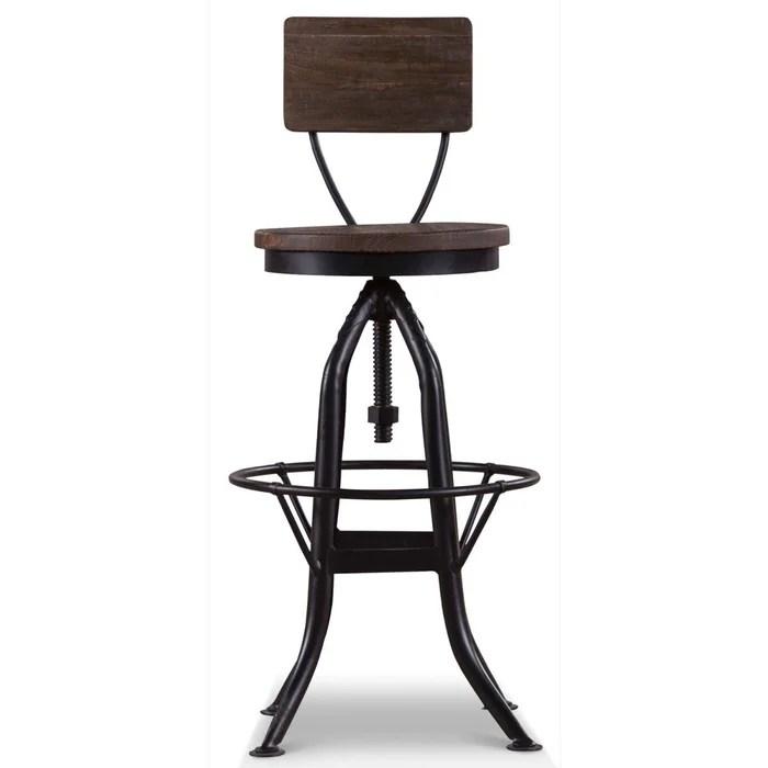 chaise haute tabouret bois fer forge 40 5x40 5x102cm