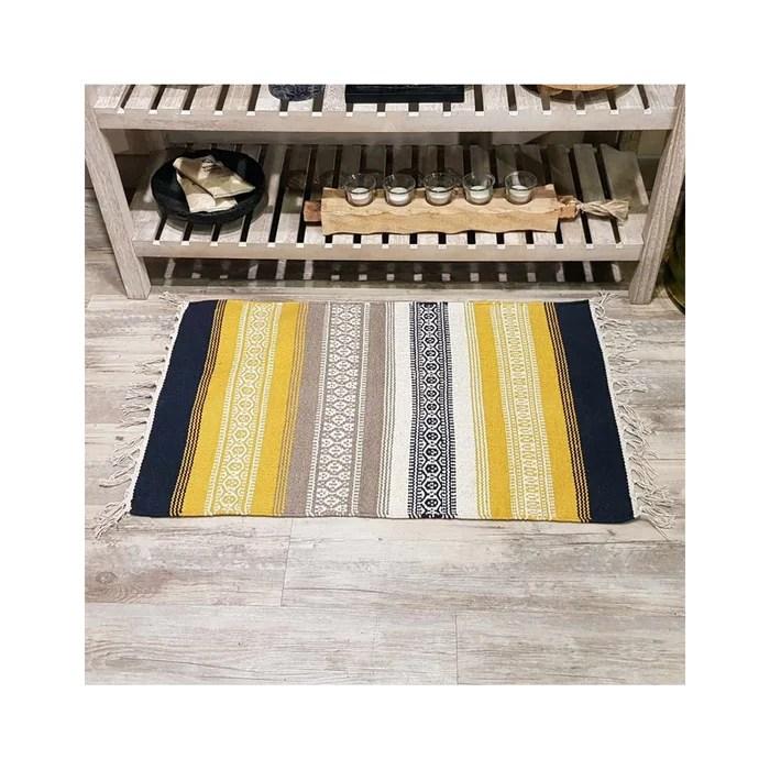 tapis d inerieur 100 coton 1250gr m antiderapant katinga