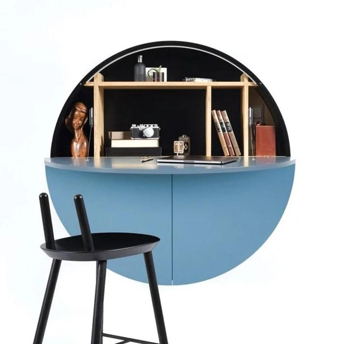 pill bureau mural bleu noir 30 5 x o 110 cm