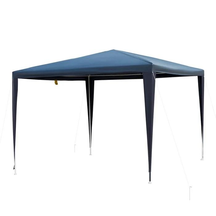 tonnelle barnum de jardin metal epoxy bache pe haute densite bleu