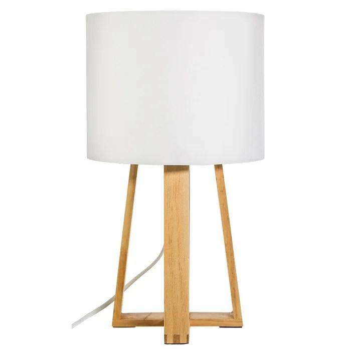 lampe pied bois molu