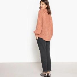 Imagen de Jersey de cuello vuelto, lana La Redoute Collections