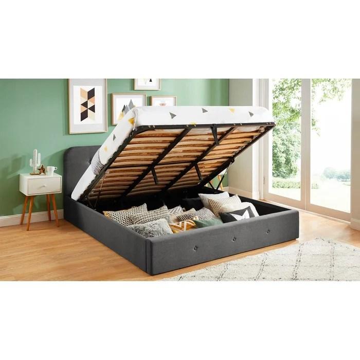lit coffre avec tete de lit et sommier kate