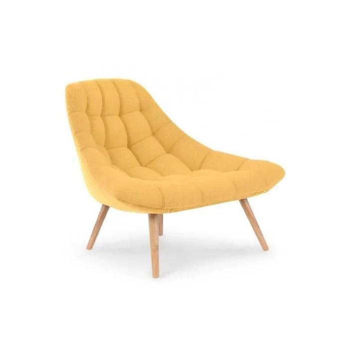 fauteuil scandinave tissu jaune gusto