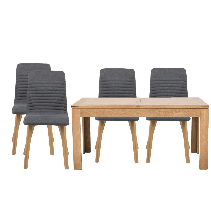 table extensible boston l160 240 4 chaises rosa