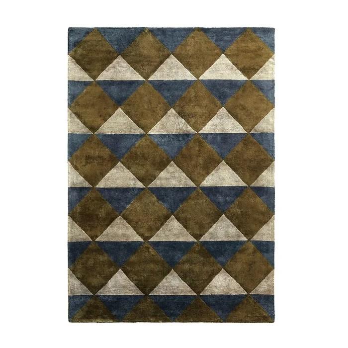 tapis viscose geometrique darva