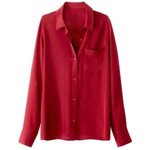 Imagen de Camisa de seda, bolsillo lateral La Redoute Collections