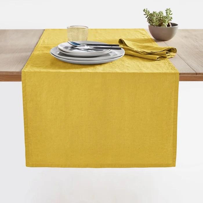 chemin de table lin lave victorine