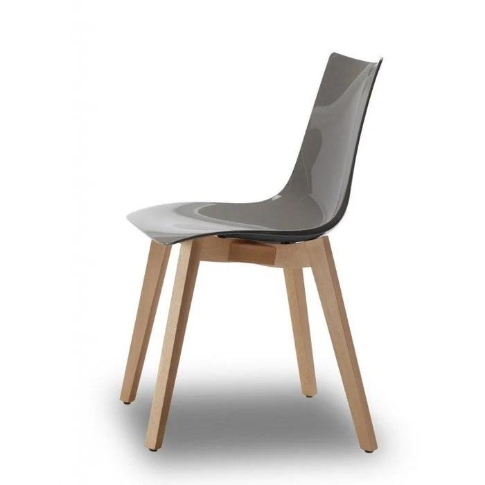 chaise design avec pieds bois naturel natural zebra antishock vendu a l unite deco originale