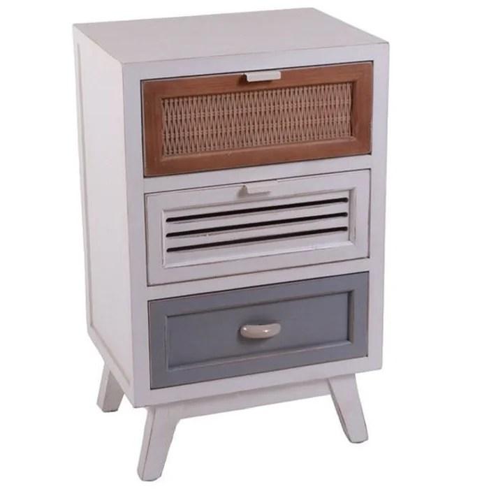 petit meuble de rangement 3 tiroirs patchwork etretat
