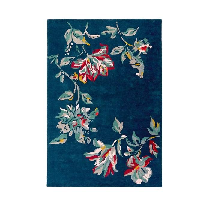 tapis motif floral elva