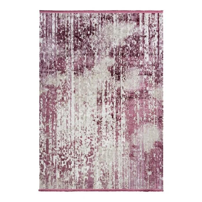 tapis avec franges violet vintage pour salon raye elysee