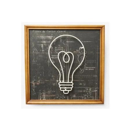 Décoration Murale Kare Design Style Ecolier Ampoule RECRE KARE DESIGN