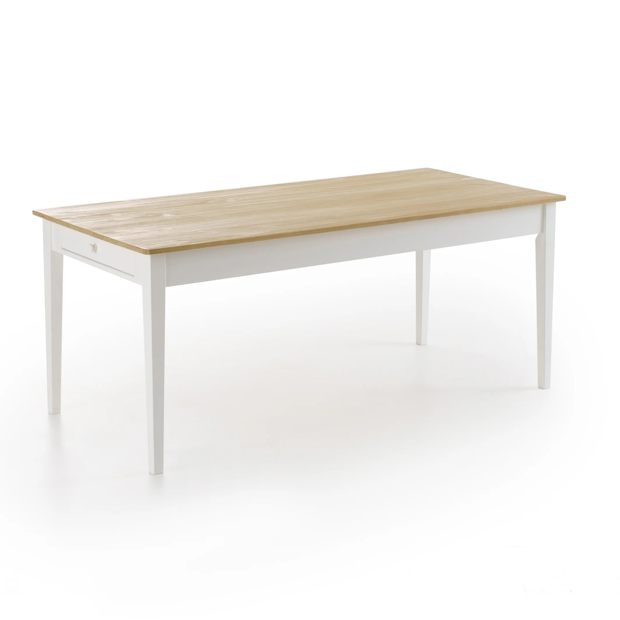 alvina solid pine dining table seats 6 8