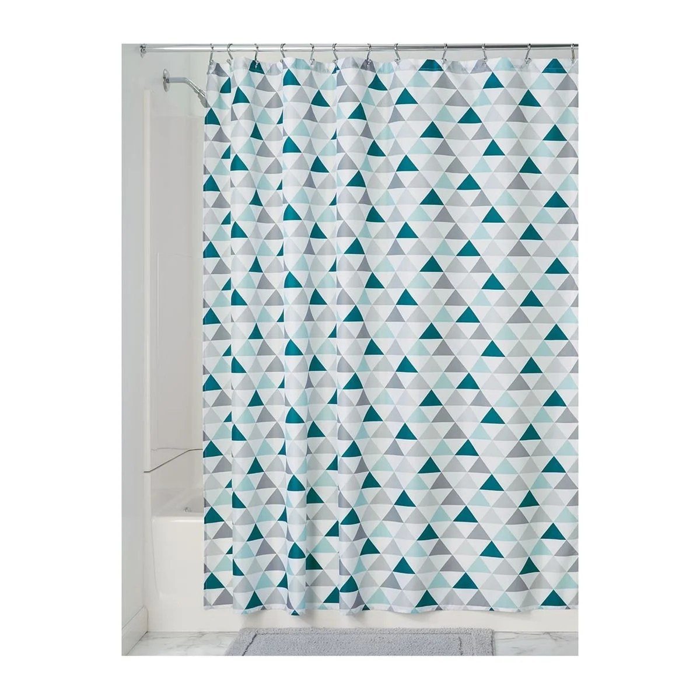 rideau de douche motif triangles