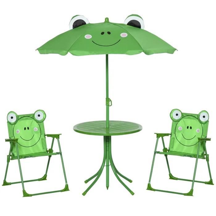 ensemble salon de jardin enfant 4 pieces design grenouille