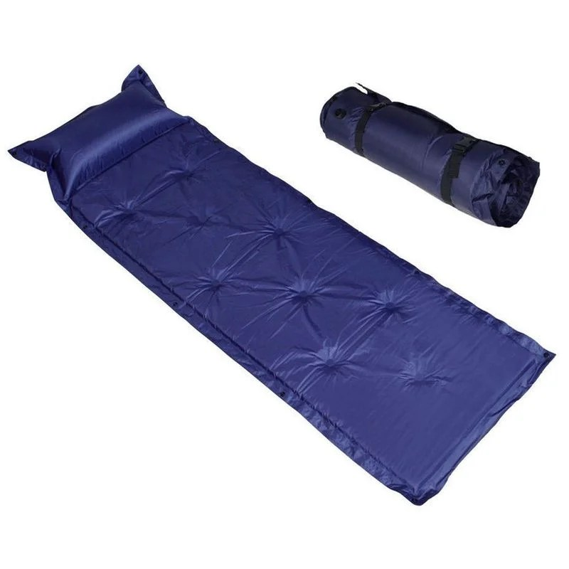 matelas couchage fin auto gonflable enroulable eiller camping randonnee