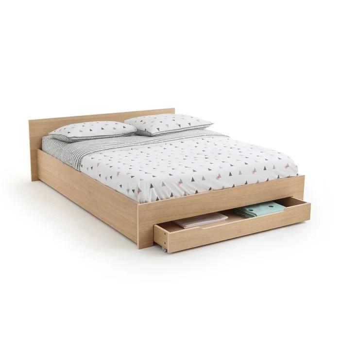 lit avec sommier tiroir crawley chene la redoute interieurs la redoute