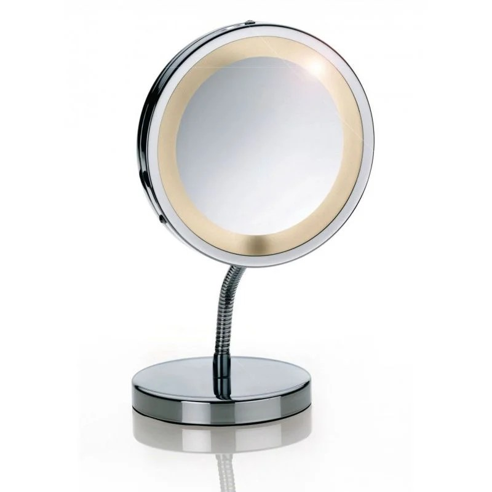 Miroir Grossissant X3 Lumineux Sur Pied Lola Chrome Inox Kela La Redoute