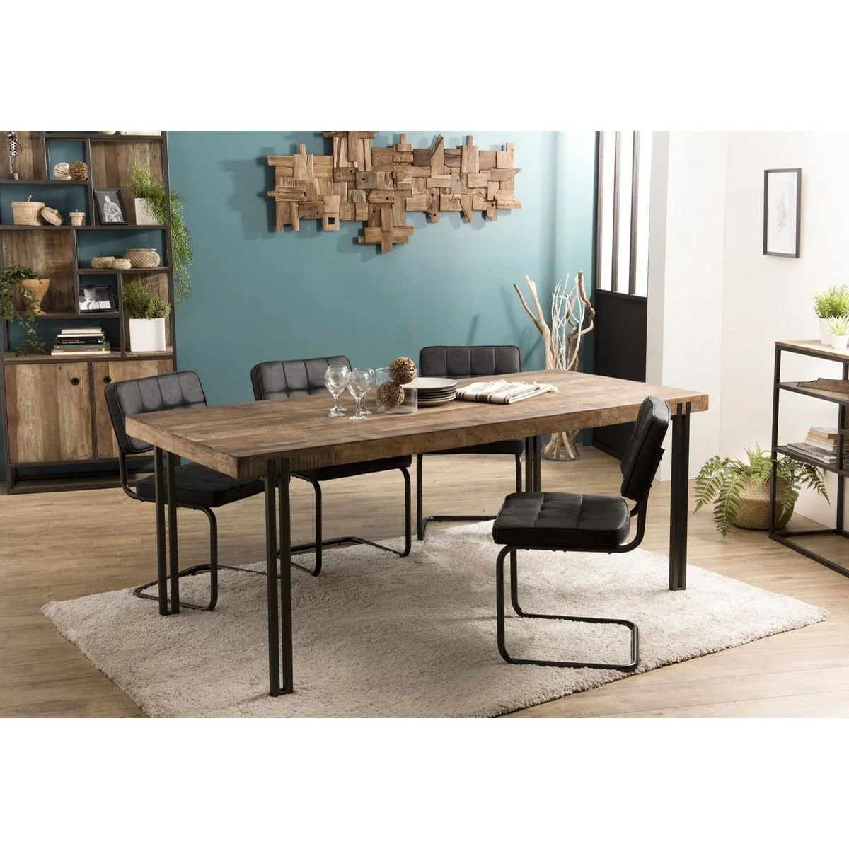 PIERIMPORT – TABLE A MANGER TECK RECYCLE