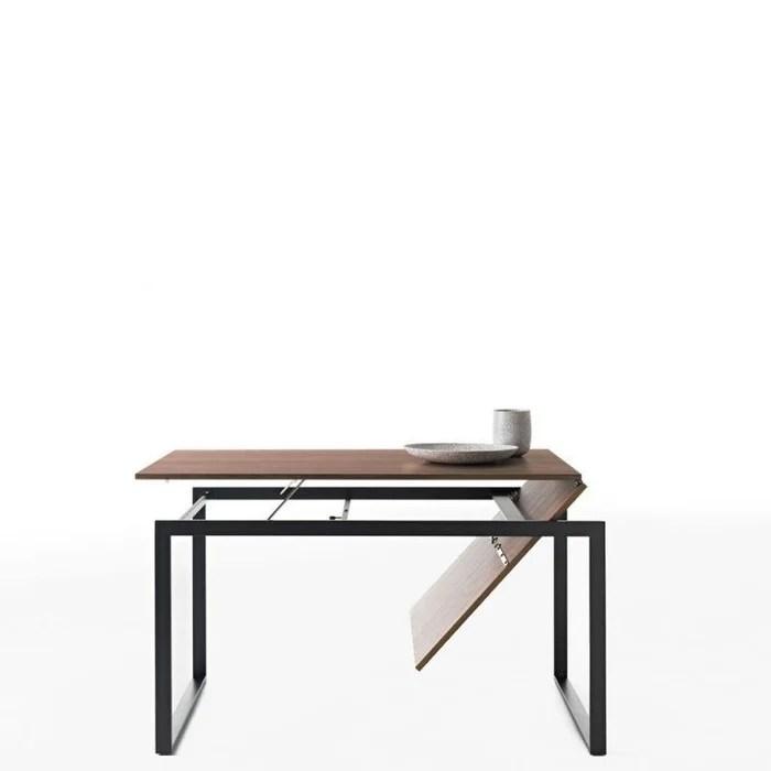 wow plus table extensible 140 220 cm en noyer