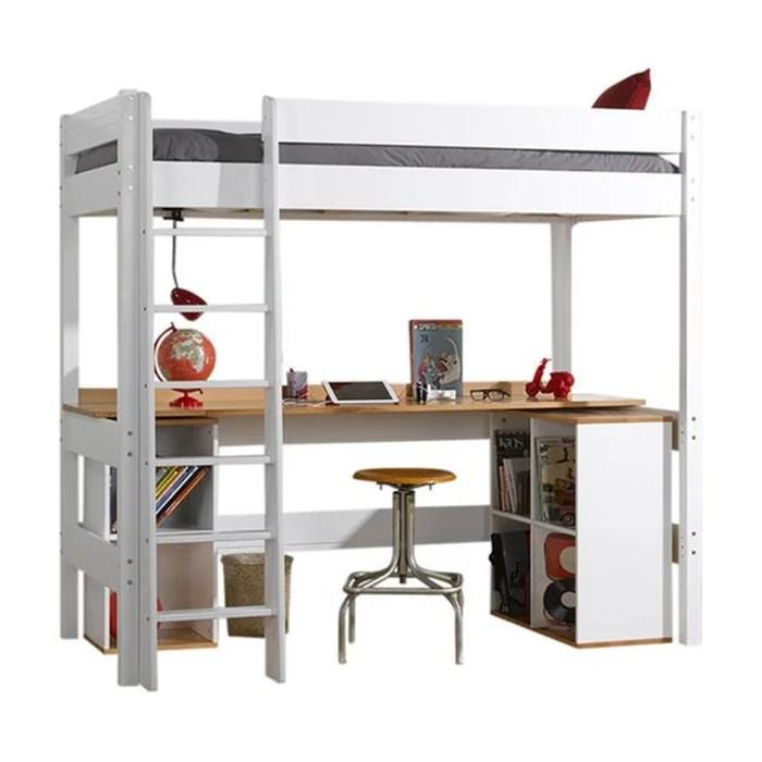 lit mezzanine avec bureau clea