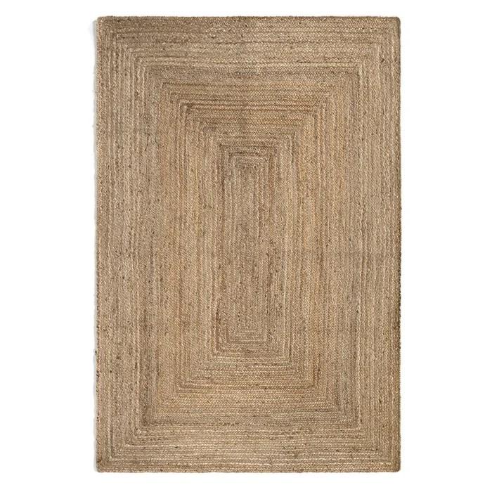 tapis rectangulaire en jute hempy