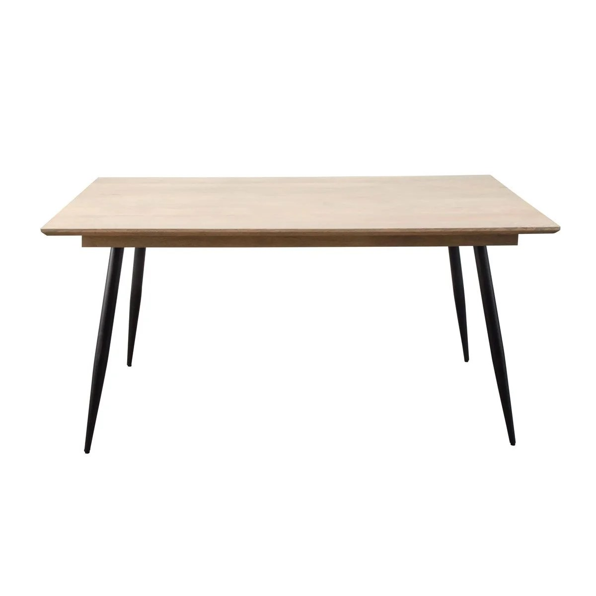 table a manger scandinave pieds compas metal 2 allonges
