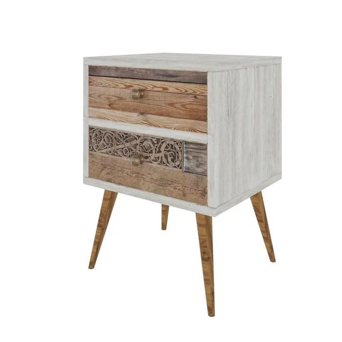 table de chevet design scandinave malmo