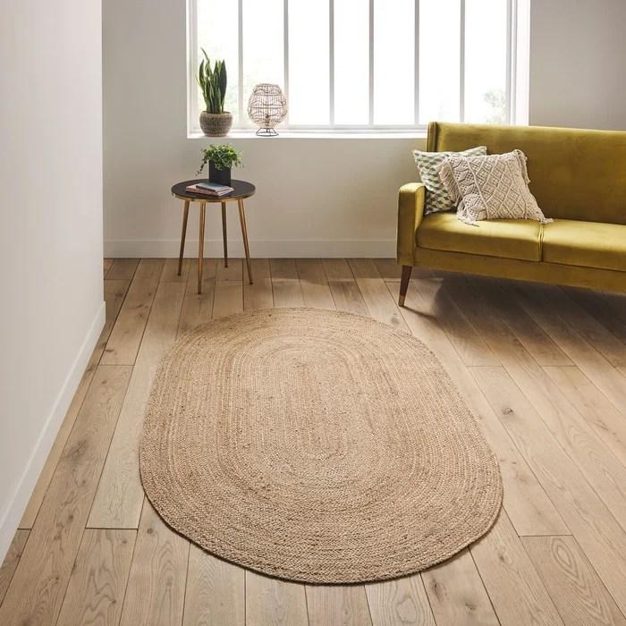 tapis ovale en jute aftas