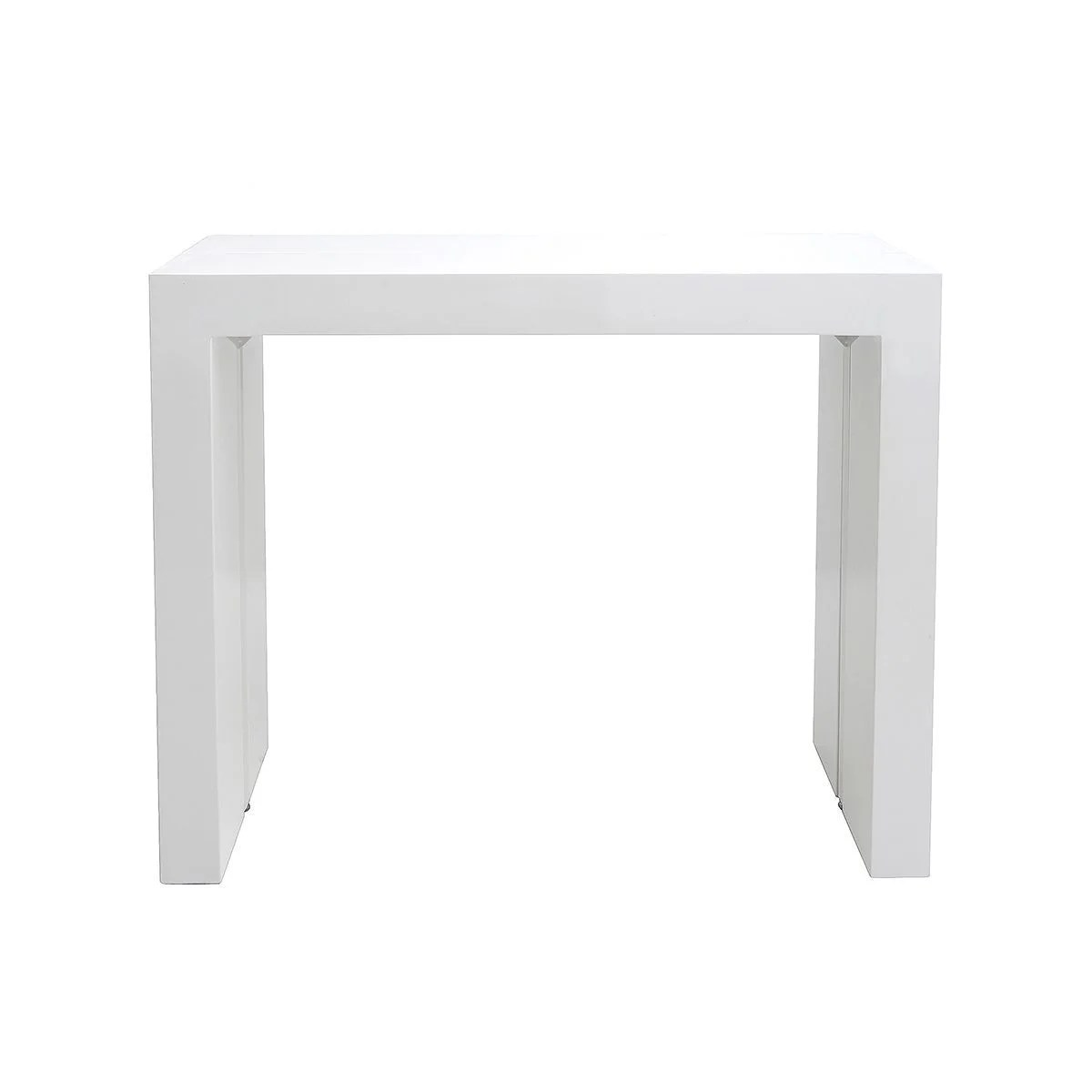 table console extensible blanc laqu