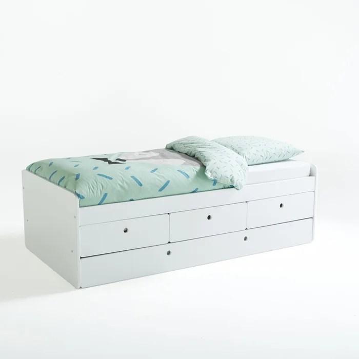 lit avec tiroirs et sommier selisa